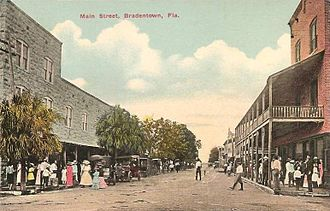 Bradenton, Florida - Old Main Street circa 1910