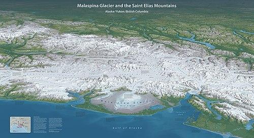 Malaspina Glacier map