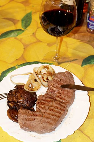 Malbec - Malbec paired with a steak.