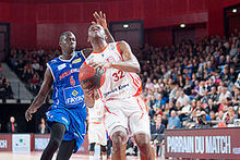 Maleye Ndoye (L), Hervé Toure (R) - Bourg-en-Bresse vs. Paris-Levallois, 15th November 2014.jpg