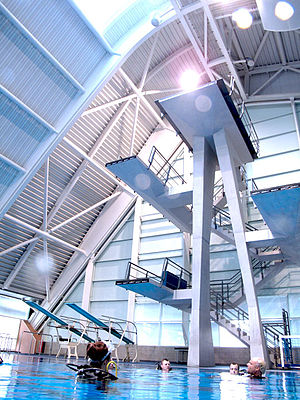 Manchester Aquatics Centre - Image: Manchester Aquatics Centre Diving
