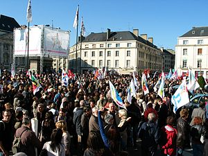 2010 French pension reform strikes - Demonstration in Orléans, 12 October