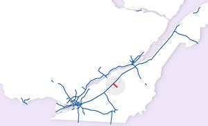Quebec Autoroute 955 - Image: Map A955 2009