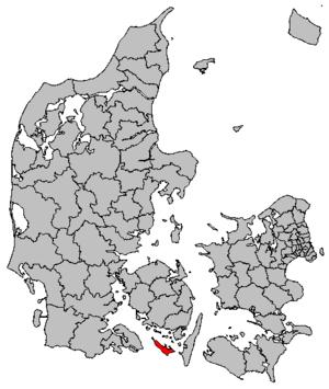 Ærø Municipality - Image: Map DK Ærø