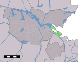 Location of IJburg (green) in Amsterdam