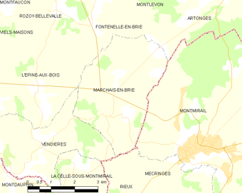Map of Marchais-en-Brie