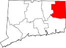Map of Connecticut highlighting Windham County.svg
