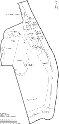 Map of Dare County North Carolina With Municipal and Township Labels.PNG