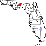 State map highlighting Leon County