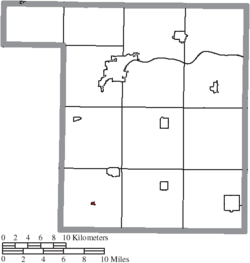 Location of New Bavaria in Henry County