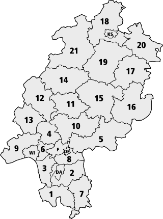Map of Hesse with districts (with numbers).svg