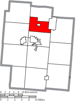 Location of Coal Township in Jackson County