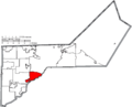 Map of Lucas County Ohio Highlighting Maumee City.png