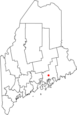 Location of city of Ellsworth in the state of Maine