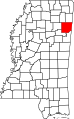 Map of Mississippi highlighting Monroe County.svg
