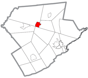 Map of Mount Pocono, Monroe County, Pennsylvania Highlighted.png