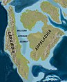 Map of North America with the Western Interior Seaway during the Campanian (Upper Cretaceous).jpg
