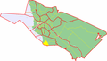 Map of Oulu highlighting Peravainio.png