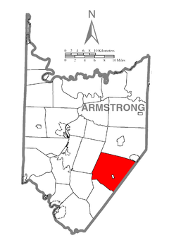 Map of Plumcreek Township, Armstrong County, Pennsylvania Highlighted.png