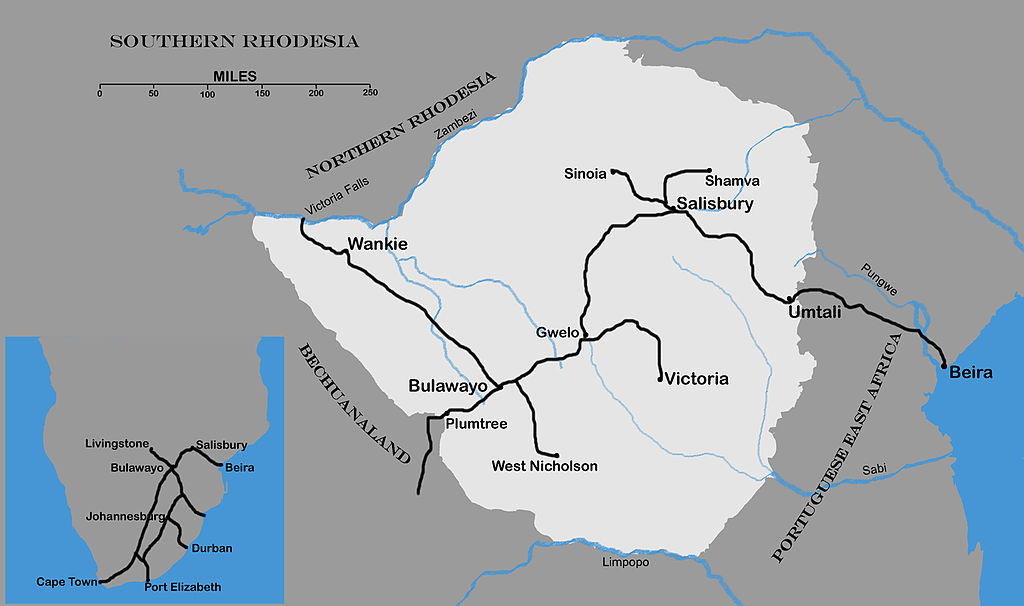 FileMap of Southern Rhodesia c1927jpg Wikimedia Commons
