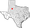 State map highlighting Garza County