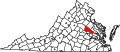 Map of Virginia highlighting Hanover County.svg