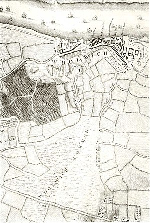Woolwich Common - Woolwich Common in 1746