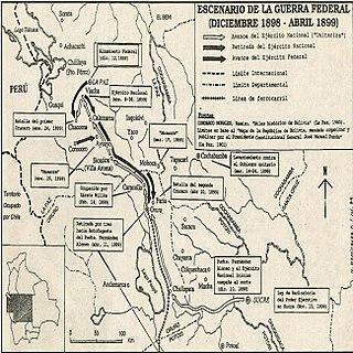 Bolivian Civil War civil war in Bolivia from 1898 to 1899