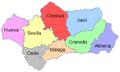 Mapa de las provincias de Andalucía-ca.png