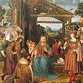 Marco Cardisco Adoración de los Reyes 1519 Museo Civico Castel Nuovo Nápoles.jpg