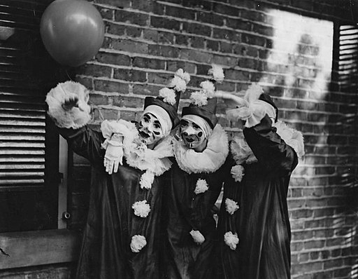 Mardi Gras Clowns in New Orleans Louisiana in 1936