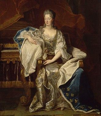 Princess of Conti - Image: Marie Anne de Bourbon par Rigaud c.1706