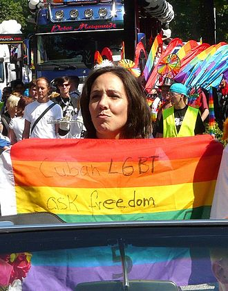 Mariela Castro - Mariela Castro at the 2010 Pride parade in Hamburg