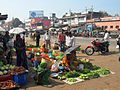 Market along the road in India.JPG