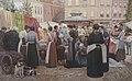 Markt op de Neude, Utrecht, door Jozef Hoevenaar.jpg
