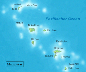 Karte der Marquesas