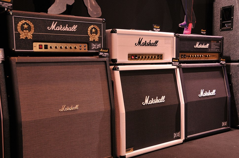 Marshall Anniversary edition guitar amplifiers
