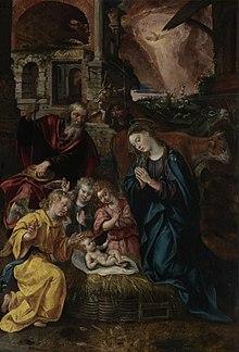 Natività, Maerten de Vos, Cattedrale di Anversa