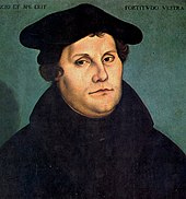 Portrait of Luther by the painter Lucas Cranach the Elder