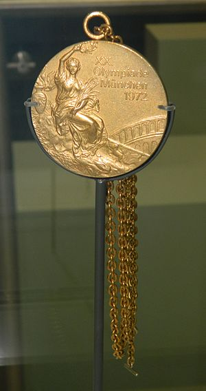 Mary Peters (athlete) - Mary Peters' Women's Pentathlon gold medal, Munich Summer Olympics 1972.
