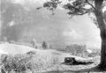 Maschinengewehr mit Schildlafette über Grindelwald - CH-BAR - 3240883.tif