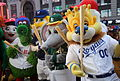 Mascots having fun outside the Good Morning America set. (25898987940).jpg