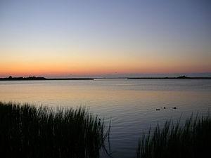 Masonboro Island - Masonboro Island as seen from the mainland.