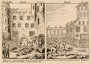 September Massacres - Mass killing of prisoners that took place in Paris