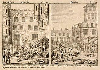 September Massacres - Mass killing of prisoners that took place in Paris