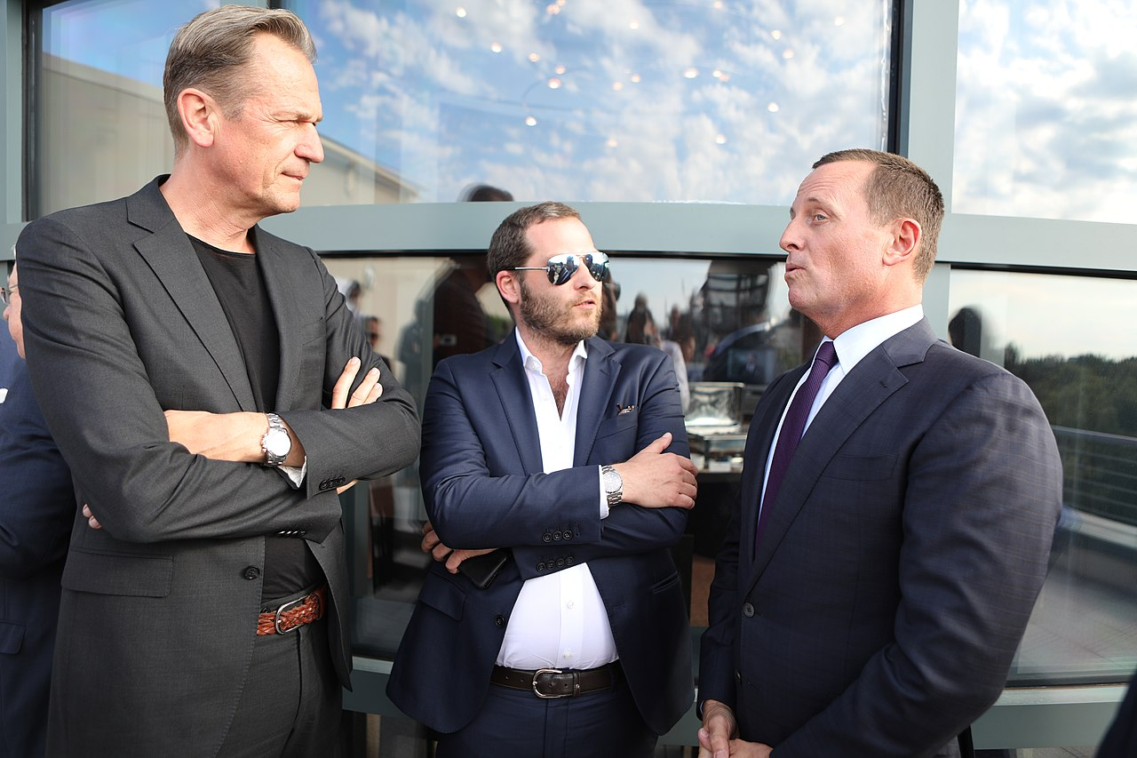 Mathias Döpfner, Julian Reichelt, and Richard Grenell, June 2019.jpg
