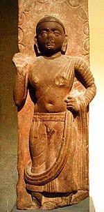 fragmento de pedra A Bodhisattva, século 2, Mathura