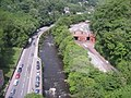 Matlock Bath - A6 and River Derwent view from Cable Car - geograph.org.uk - 823265.jpg