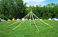 May pole, Morris dancer encampment, Marlboro College, Marlboro, Vermont.jpg