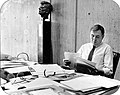 Mayor Raymond L. Flynn working in office (9519693358).jpg